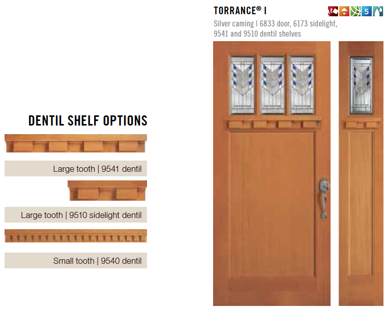 Simpson Door Dentil Shelf Options.