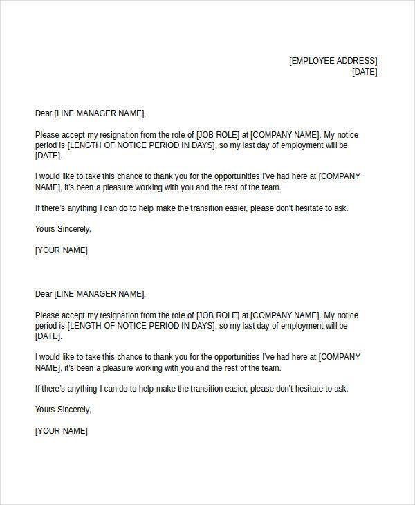 Simple Resignation Letters  Free  Premium Templates  Jhon