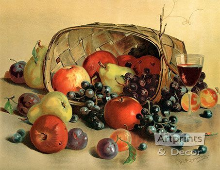 Fruit & Wine - Art Print
