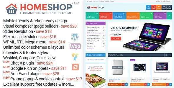 ThemeForest - Home Shop-WooCommerce Theme Free Download   HTML ...