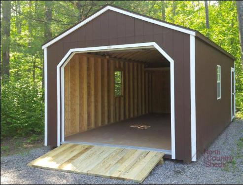 Garage Storage Sheds » North Country Sheds Garage Shed