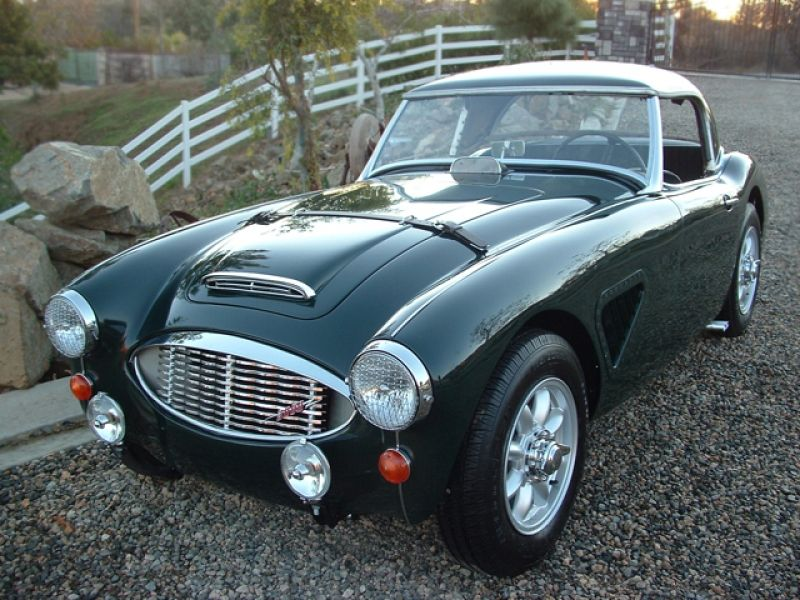 british racing green austin healey