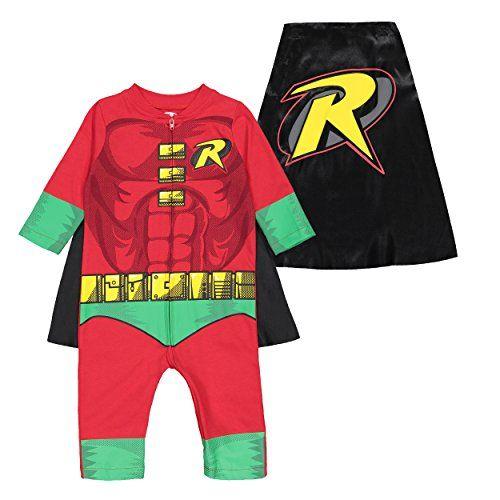 Warner Bros Justice League Boys Costume Coverall Superman Batman Robin Flash