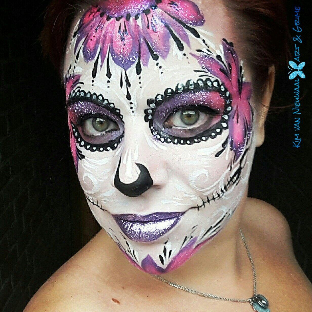 Sugarskull inspired by Vanessa Mendoza with glitterlips