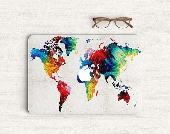 World map colorful art sticker skin vinyl decal for macbook my world map colorful art sticker skin vinyl decal for macbook gumiabroncs Choice Image