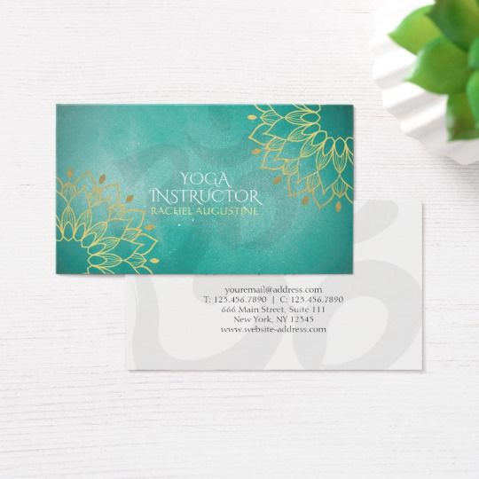 Yoga instructor chic gold floral om symbol mandala business card yoga instructor chic gold floral om symbol mandala business card colourmoves