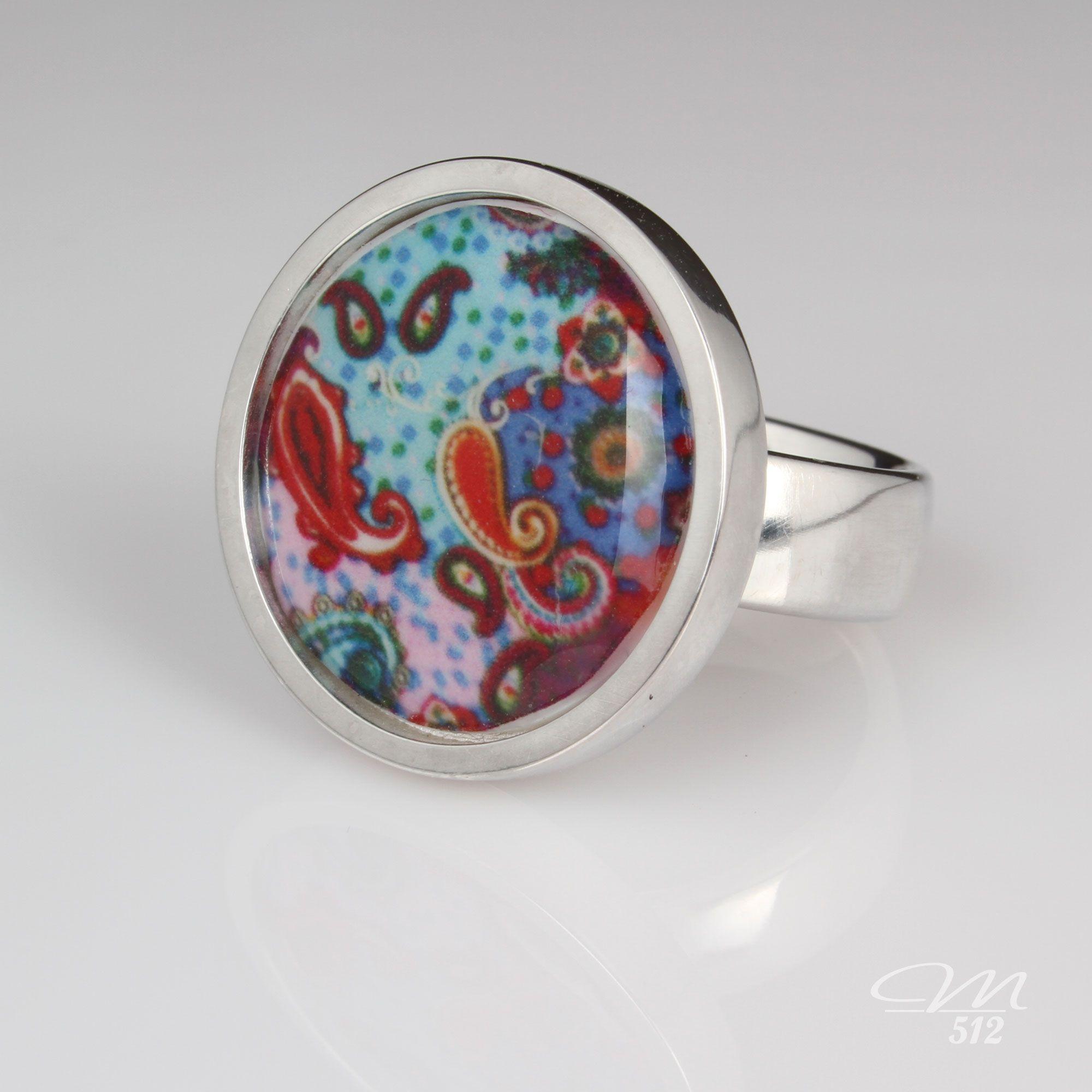 Ring Underwater Paisley - Manufaktur 512 - Einzigartige #Accessoires in #Handarbeit. +++ #Ring #fashion #handmade #manufaktur
