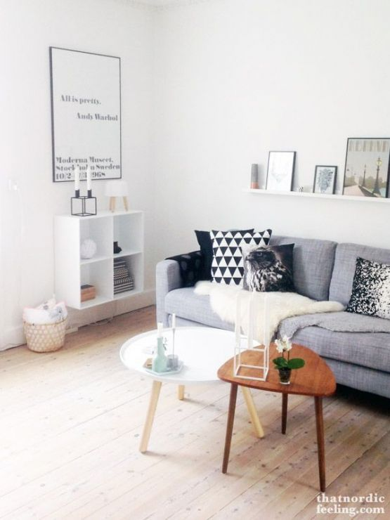 White and grey Decor Salas Pinterest Déco salon, Salon and