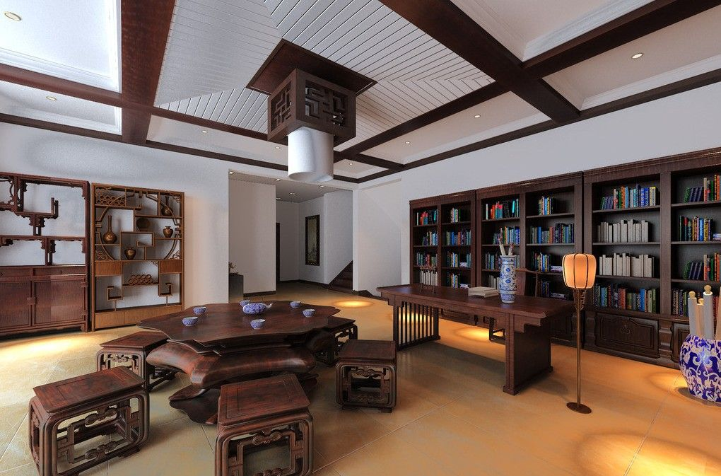 Classic Office Design chinese house interiors | classic chinese style ceo office