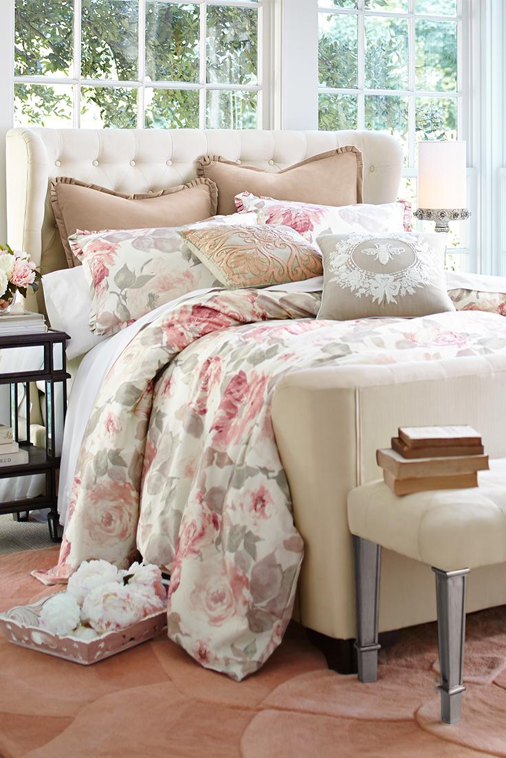 Vintage Rose Comforter Sham Rose Comforter Rose Bedding Floral Bedroom