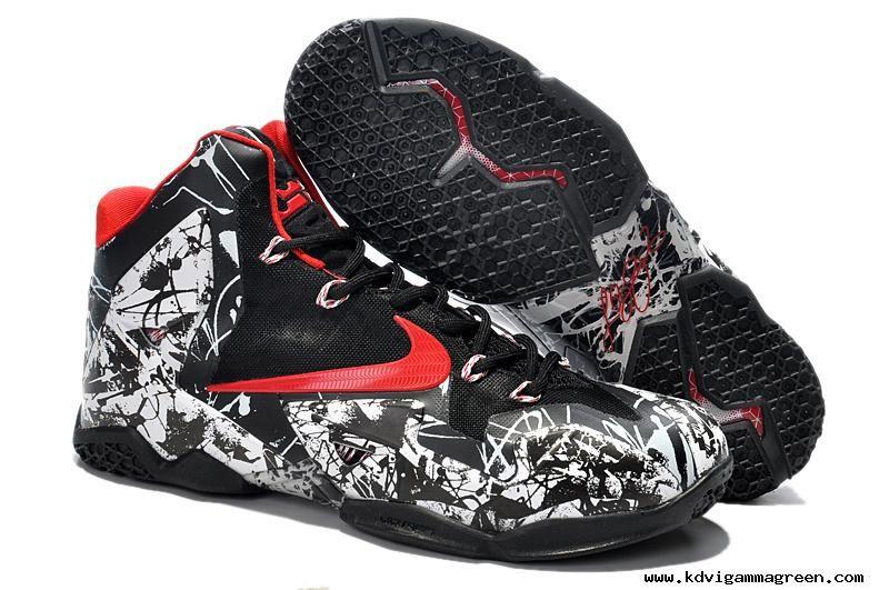 Nike LeBron 11 Graffiti White Black Red For Wholesale  d8ddf58a3