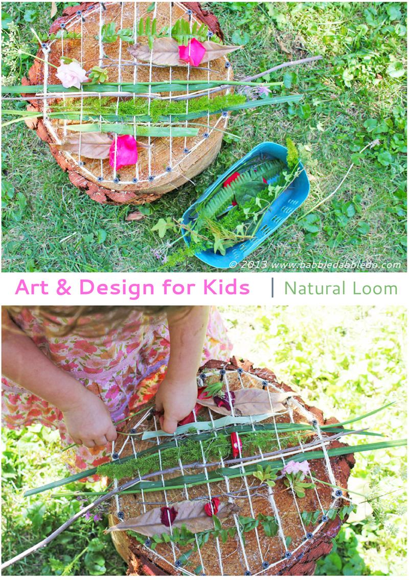 art and design for kids natural loom sommer kinder erleben die natur pinterest basteln. Black Bedroom Furniture Sets. Home Design Ideas