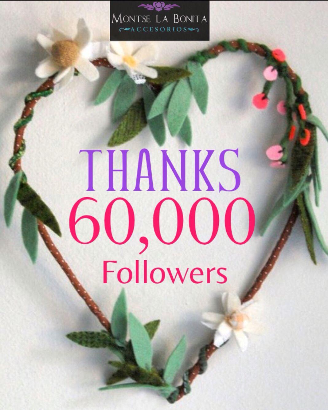 Ya somos 60k en FB! MIL GRACIAS a cada uno de ustedes; Gracias por ser parte de nuestro día a día. 6️⃣0️⃣ K