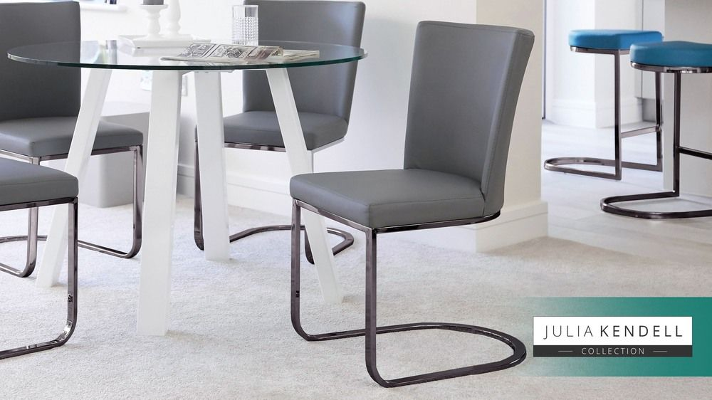 Pleasing Form Black Chrome Cantilever Dining Chair Modern Dining Caraccident5 Cool Chair Designs And Ideas Caraccident5Info