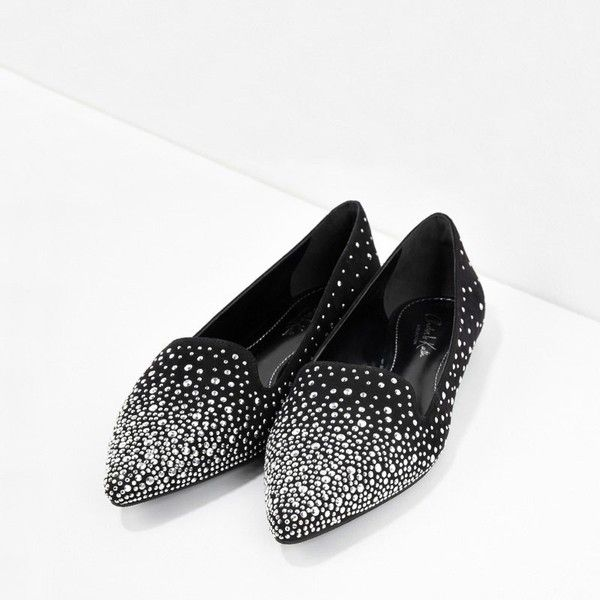 CHARLES & KEITH Embellished Ballerinas (785 ARS) ❤ liked on Polyvore featuring shoes, flats, silver, ballerina shoes, pointed ballet flats, glitter ballet flats, pointed ballet shoes and glitter shoes