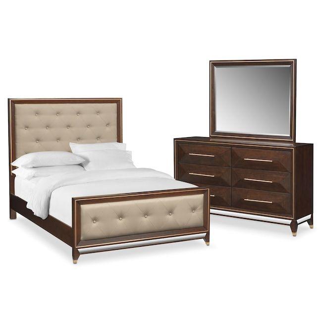 Bedroom Furniture   Kenton 5 Piece Queen Bedroom Set   Cherry