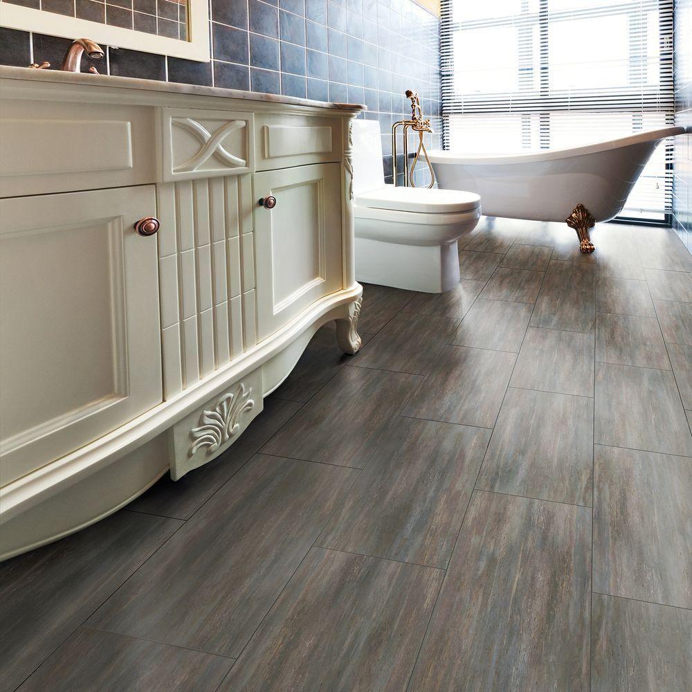Trafficmaster allure 12 in x 24 in grey beton luxury vinyl tile grey beton resilient vinyl tile flooring 24 doublecrazyfo Images