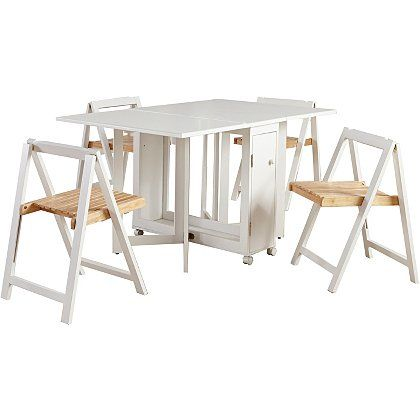 23+ White fold away dining table and chairs Ideas