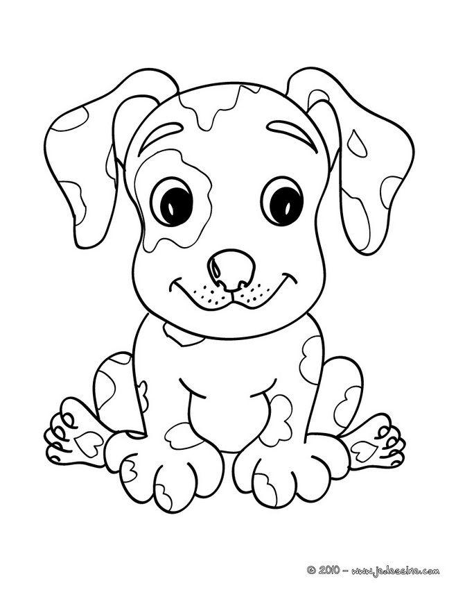Coloriages de chien chiot kawaii dessin de chien pinterest coloriage de chien coloriage - Chiot a colorier ...