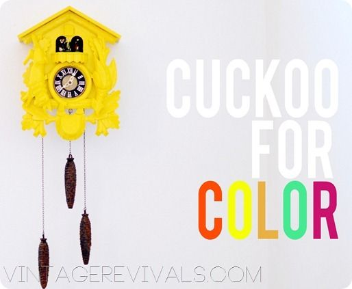 now on a mission to find a cuckoo clock!!! ...Cuckoo Clock Makeover @ Vintage Revivals copy