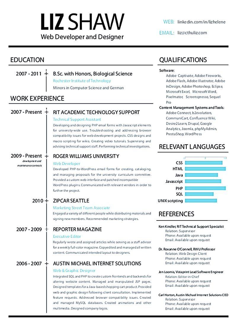 web designer resume examples