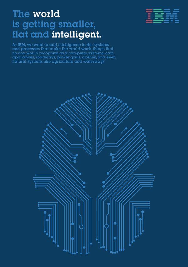Posters IBM by Esther Recuerda Fernández, via Behance