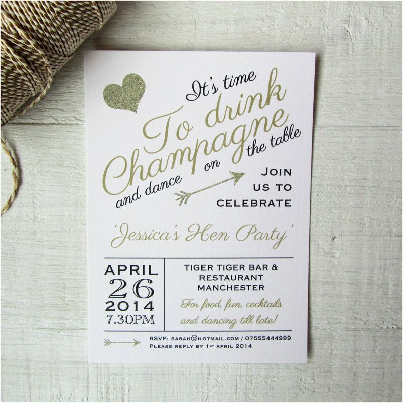 Hen party invites - Personalized Bridal Shower invitations ...