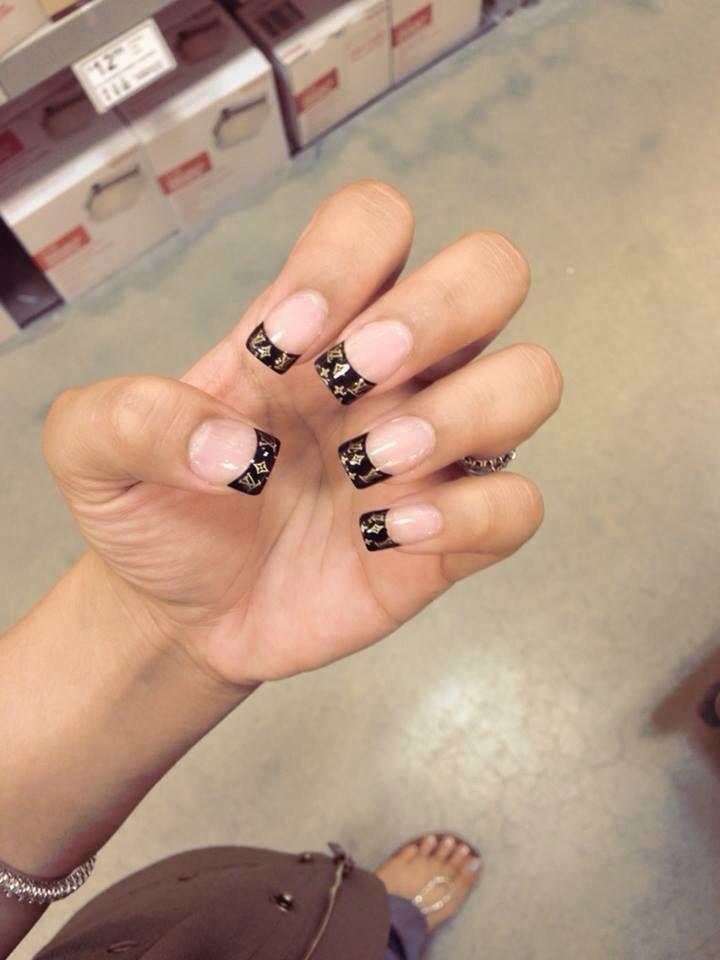 Lv nails | My Favorite Nail designs | Pinterest