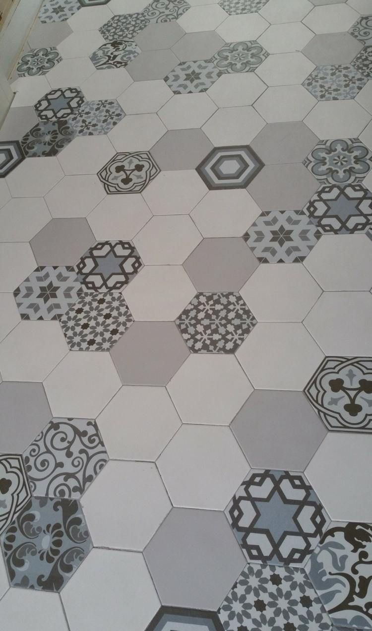 carrelage hexagonal tendance idees de