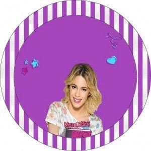 Etiqueta Redonda Violeta2