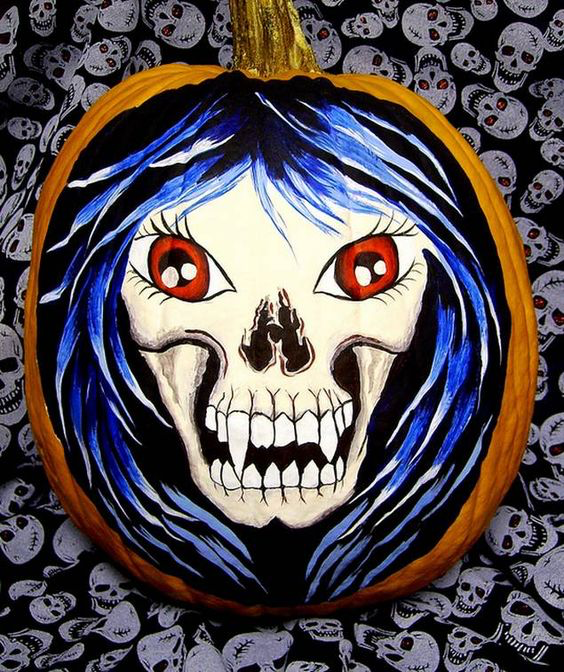 30 Pumpkin Painting Designs #paintedpumpkins