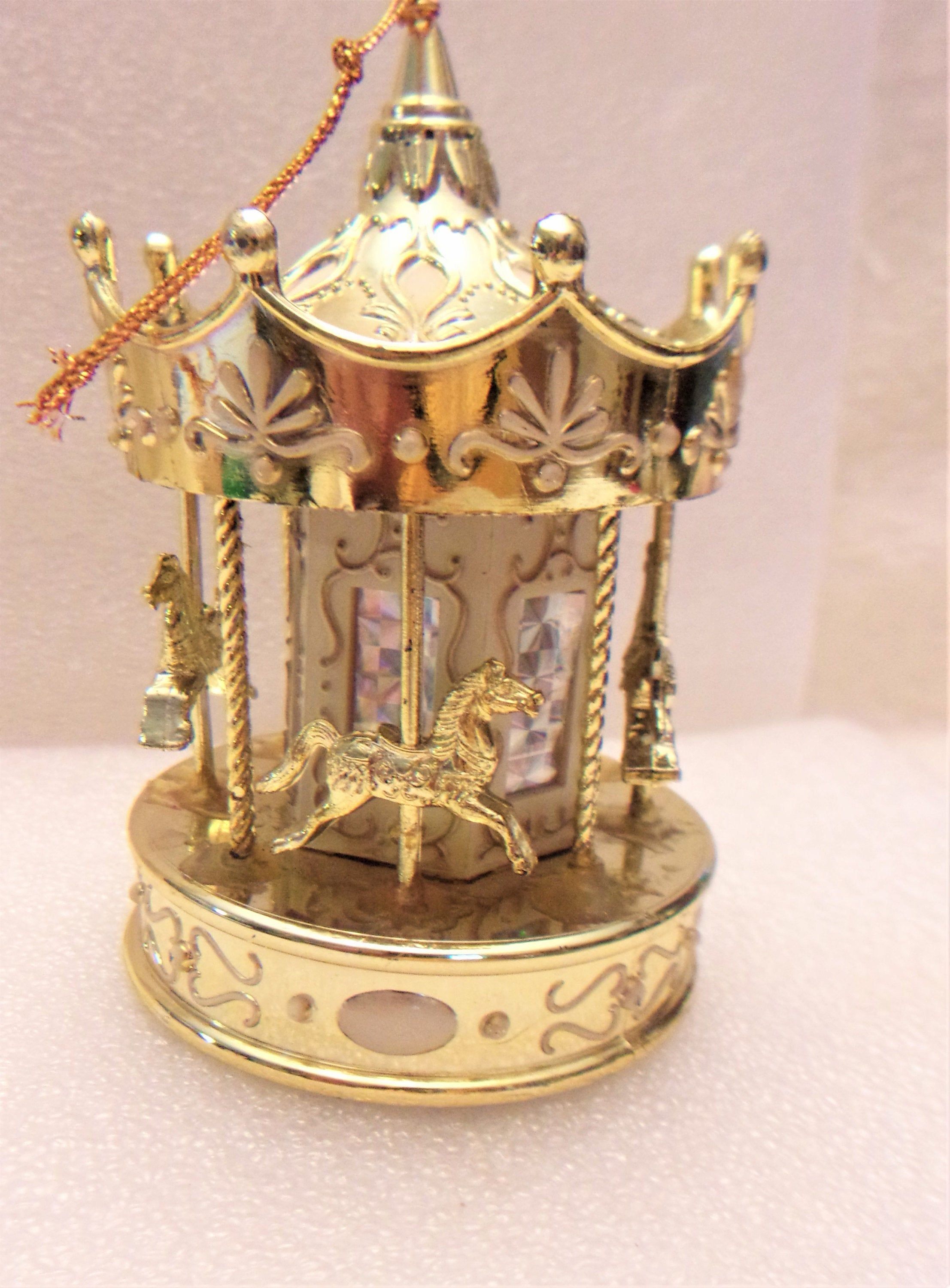 Carousel Christmas Ornament Holiday Merry Go Round Home ...