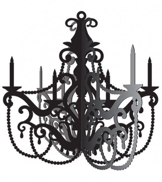 AuBergewohnlich Schwarzer Kronleuchter Aus Pappe Für Eine Stylishe Party Dekoration, Z.B.  Für Die Paris