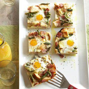 Ham Asparagus And Cheese Strata