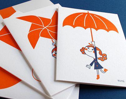 Cuatro ilustraciones dise;adas para la creaci'on de postales para regalar o decorar, y el dise;o de camisetas para ni;os con packaging especialmente creado para ellas.