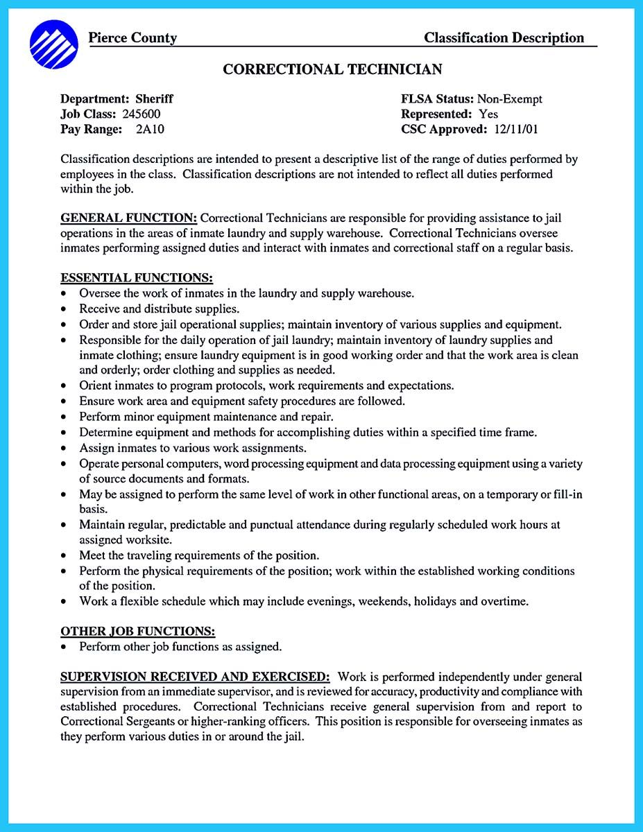 cool perfect correctional officer resume to get noticed check more