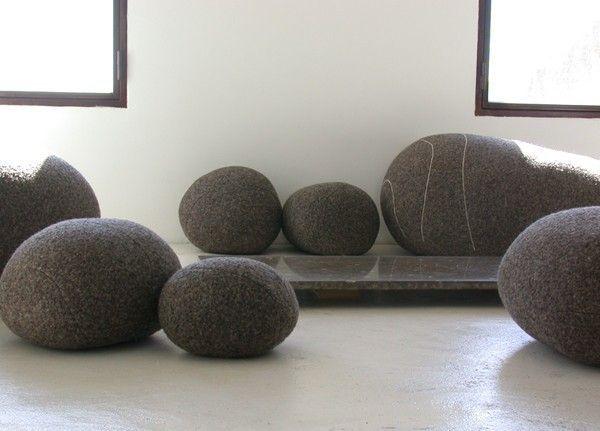 smarin pouf galet rosa laine noir mt diablo pinterest poufs livingstone and decoration. Black Bedroom Furniture Sets. Home Design Ideas