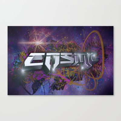 Cosmic Stretched Canvas by Thomas Majevsky - $85.00