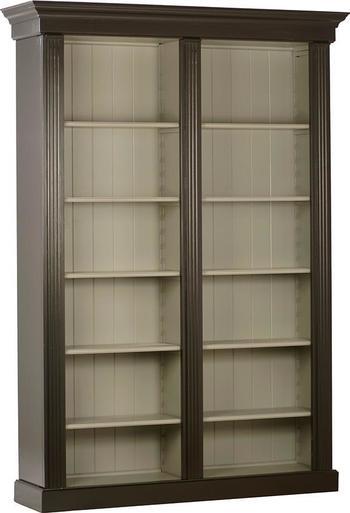 Bookshelf Dovetail Connor Gray Black Oak Wood New 2 Door 10