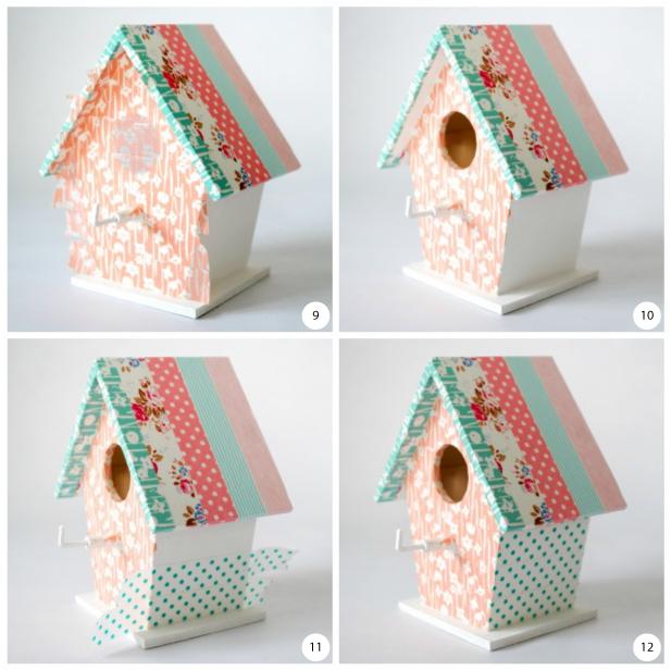 Casitas de pajaros con washi tape house keys bird - Decoracion con washi tape ...