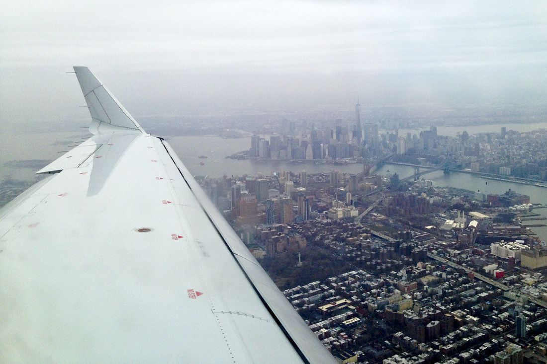 Solo adventure: Wandering New York City. Images and recommendations. (Manhattan off the wing on a cloudy day. New York City. NYC.) By Calm Cradle Photo & Design