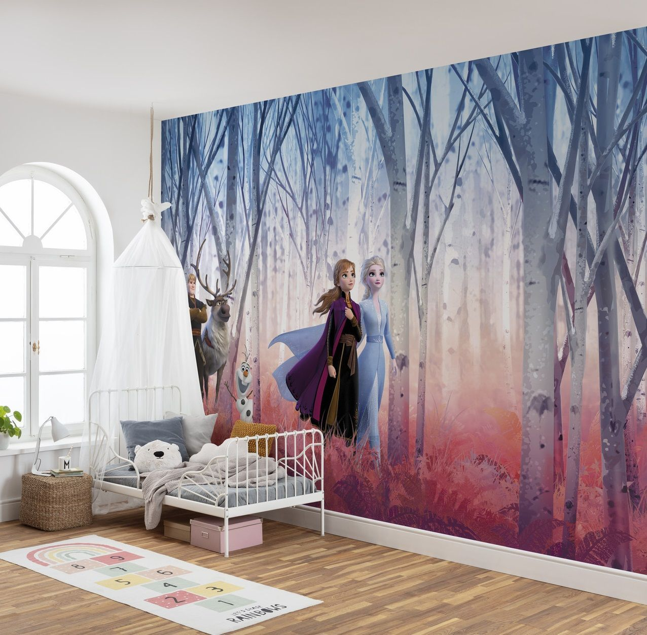 BIG Wall Mural Photo Wallpaper Disney Frozen Elsa Anna Christof No Adhesive