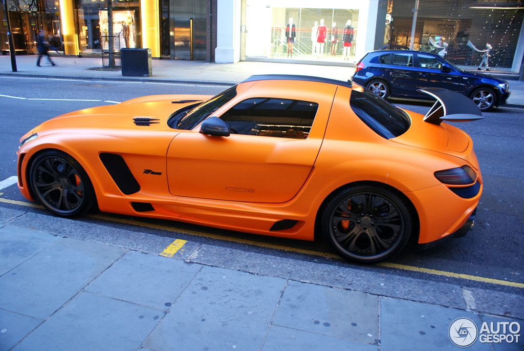 Matte Orange Mercedes-Benz FAB Design SLS AMG Gullstream spotted in London