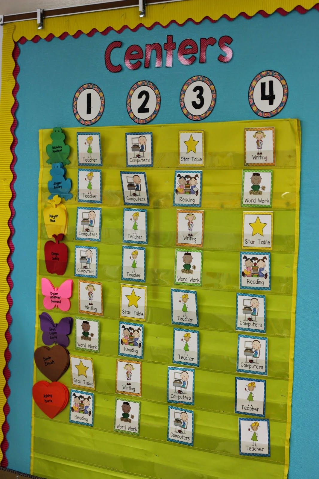 Kindergarten Classroom: Kindergarten Smiles: Centers Board