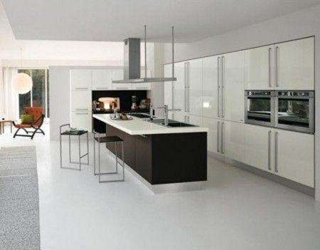 Black And White Home Kitchen Interior Design Ideas   Kitchen