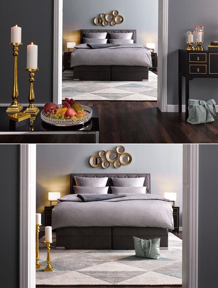 Wunderbar Mach Dein Schlafzimmer Zu Einem Luxuriösen Rückzugsort Und Einer Echten  Wohlfühloase! Üppige Boxspringbetten, Glänzende