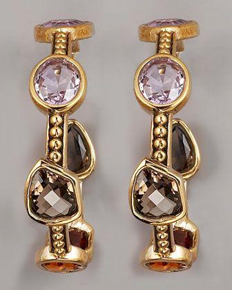Multi-Stone Hoop Earrings by Stephen Dweck at Bergdorf Goodman.