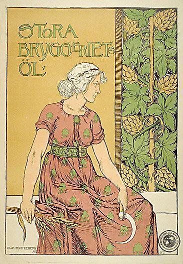 Namenloser Fastenbier VINTAGE AD POSTER O L Naegele Germany 1904 24X36 art