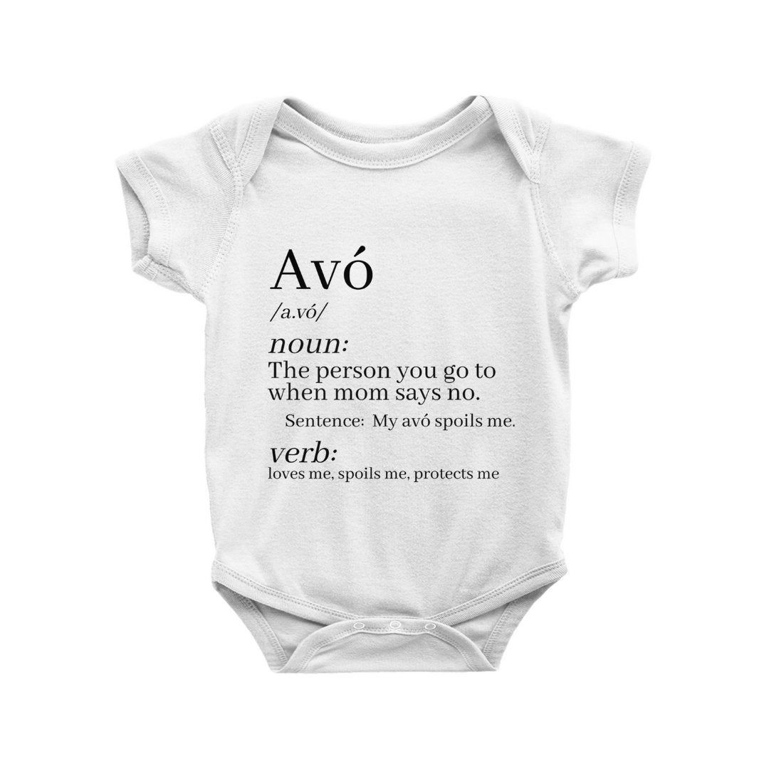 I Love Grandma Definition Cute Shower Gift Newborn Romper Bodysuit For Babies