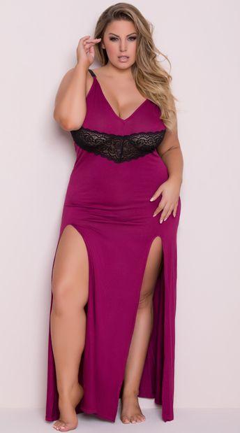 Plus Size Draping Lounge Dress Black Spaghetti Black Laces And